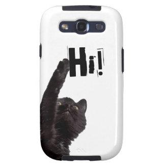 Caja divertida de la galaxia s3 de Samsung del gat Galaxy S3 Funda