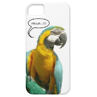 Caja divertida del teléfono del loro que habla funda para iPhone 5 barely there