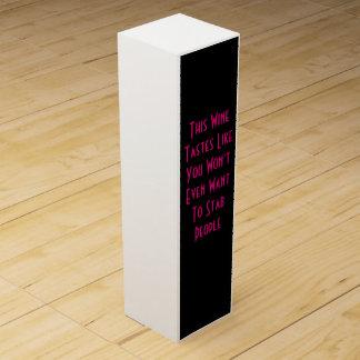 Caja divertida del vino de la gente de la puñalada cajas para botellas de vino