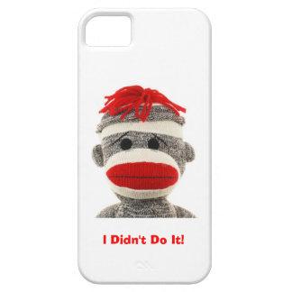 Caja divertida y linda del teléfono 5 del mono I d iPhone 5 Case-Mate Cárcasa