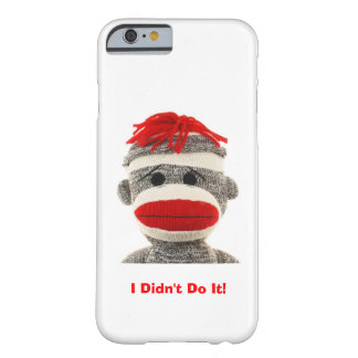 Caja divertida y linda del teléfono 5 del mono I Funda De iPhone 6 Barely There