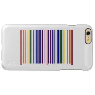 Caja doble del código de barras del arco iris