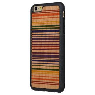 Caja doble del código de barras del arco iris funda de cerezo bumper carved® para iPhone 6 plus