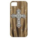 CAJA dorada de los diamantes artificiales y de la  iPhone 5 Protector