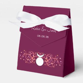Caja dual roja del favor de dios para Wiccan gay Cajas Para Detalles De Boda