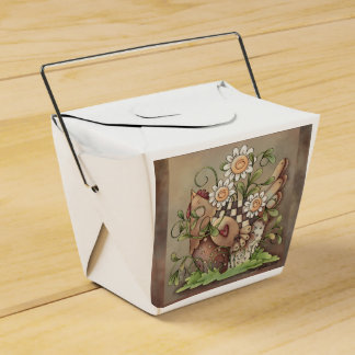 Caja dulce del favor de la gallina de la margarita caja para regalo de boda