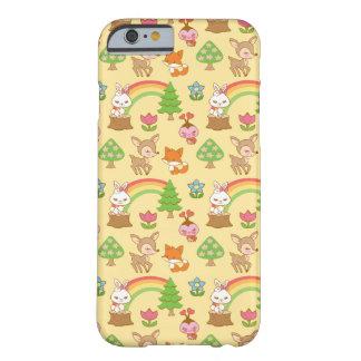 Caja dulce del teléfono del bosque funda de iPhone 6 barely there