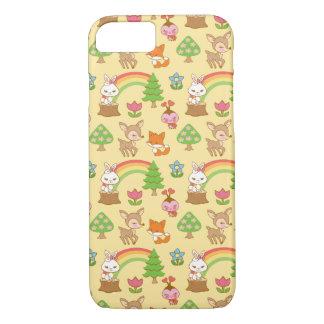 Caja dulce del teléfono del bosque funda iPhone 7