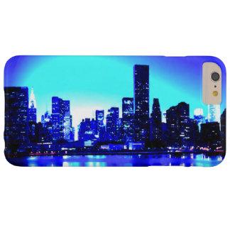 Caja dura azul del iPhone 6 de New York City Funda De iPhone 6 Plus Barely There