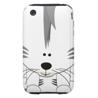 Caja dura blanca 3GS del iPhone 3 de Cub de tigre Funda Though Para iPhone 3