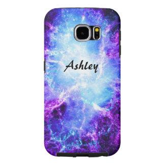 Caja dura de la galaxia S6 de la galaxia púrpura Fundas Samsung Galaxy S6