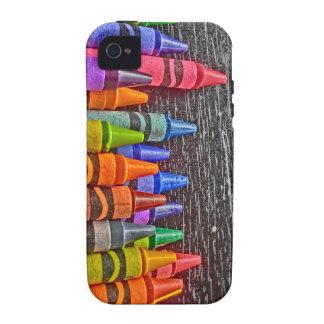 Caja dura del creyón de la casamata brillante del funda para iPhone 4