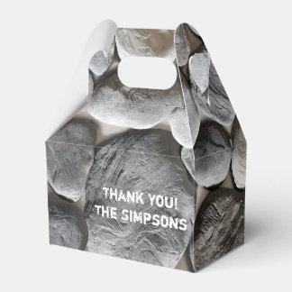 Caja dura del favor de la piedra de la pared cajas para detalles de boda