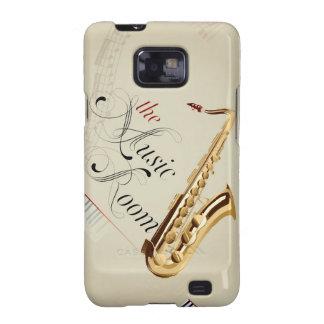 Caja dura del teléfono del saxofón samsung galaxy s2 funda