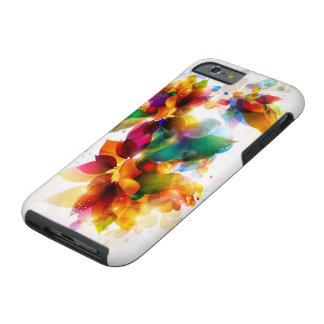 Caja dura floral colorida del iPhone 6 Funda Para iPhone 6 Tough