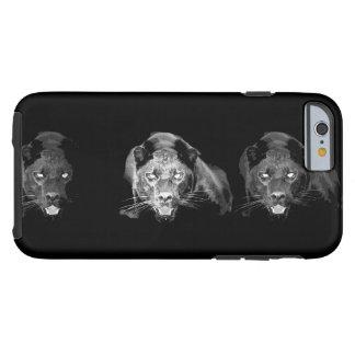 Caja dura negra y blanca del iPhone 6 de Jaguar Funda Para iPhone 6 Tough