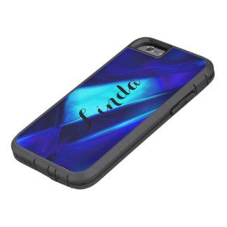 Caja dura personalizada del iPhone azul abstracto Funda Tough Xtreme iPhone 6