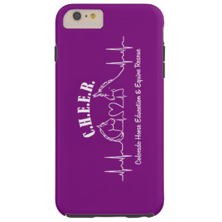 Caja dura púrpura de C.H.E.E.R Barely There Funda De iPhone 6 Plus Tough