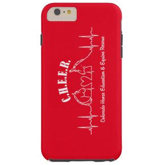 Caja dura roja de C.H.E.E.R Barely There Funda Para iPhone 6 Plus Tough