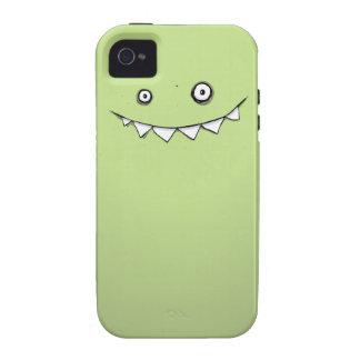 Caja dura verde feliz 4 y 4s del iPhone del monstr iPhone 4 Carcasa