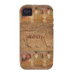Caja egipcia antigua personalizada del iPhone 4 de