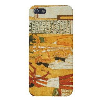 Caja egipcia de la mota iPhone 5 fundas