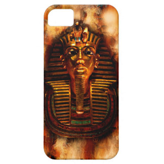 Caja egipcia llameante del teléfono de Tutankhamun iPhone 5 Case-Mate Cárcasas