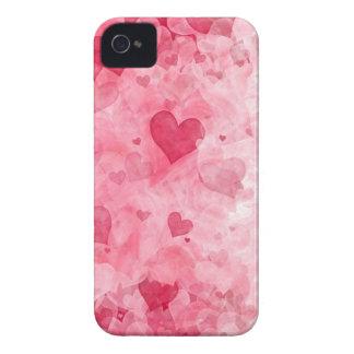 Caja elegante de Blackberry de los corazones del e iPhone 4 Case-Mate Protector