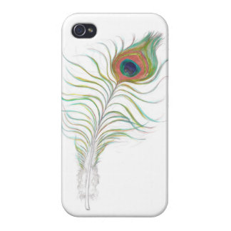 caja elegante de la pluma del pavo real del iPhone iPhone 4 Coberturas