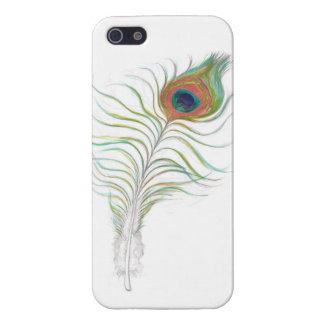 caja elegante de la pluma del pavo real del iPhone iPhone 5 Cárcasas