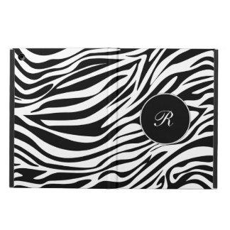 Caja elegante del aire del iPad de la cebra