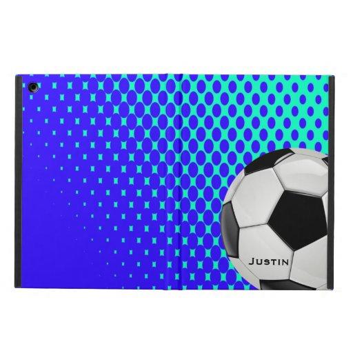 Caja elegante del aire del iPad del fútbol con el