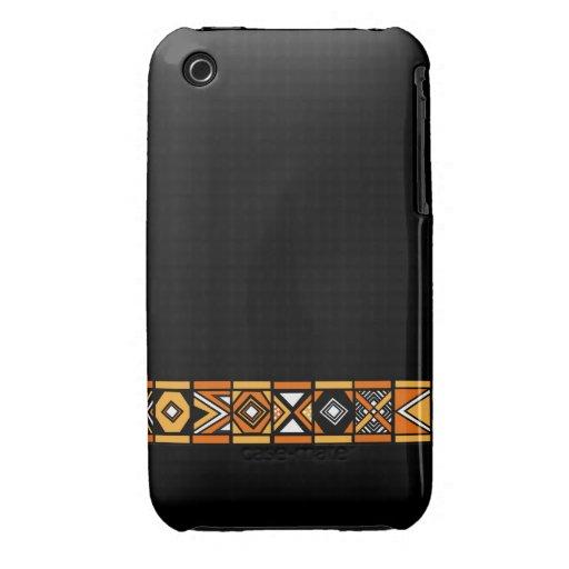 Caja elegante del iphone 3 del arte del africano n Case-Mate iPhone 3 carcasa