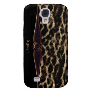 Caja elegante del teléfono celular del leopardo samsung galaxy s4 cover