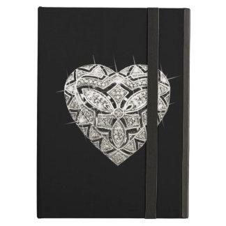 Caja elegante personalizada del iPad del corazón