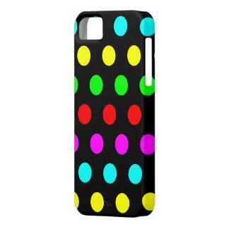 Caja elegante y colorida del iPhone 5 del lunar iPhone 5 Cobertura