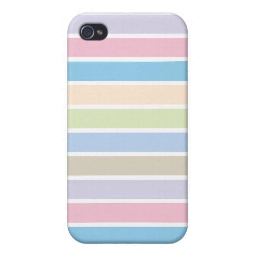 Caja en colores pastel de Iphone 4 de la raya de l iPhone 4 Carcasas