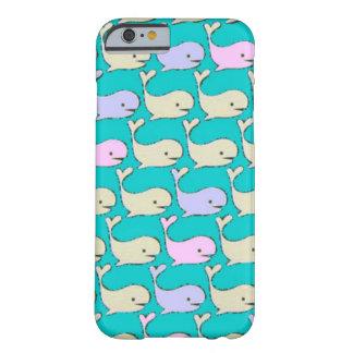 Caja en colores pastel de las ballenas funda de iPhone 6 barely there