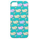 Caja en colores pastel de las ballenas iPhone 5 Case-Mate protector