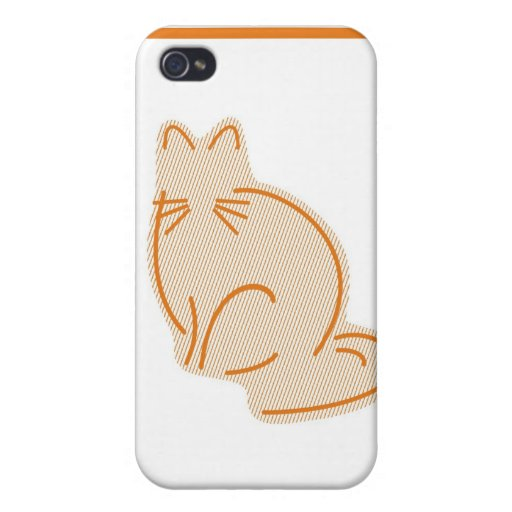 Caja en colores pastel del iPhone del gatito iPhone 4/4S Funda
