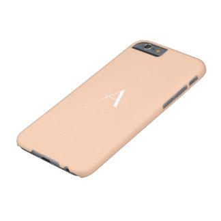 Caja en colores pastel femenina del albaricoque funda para iPhone 6 barely there