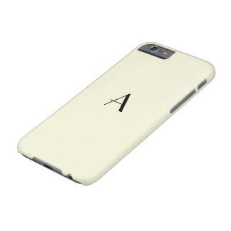 Caja en colores pastel femenina del beige iPhone6 Funda Para iPhone 6 Barely There