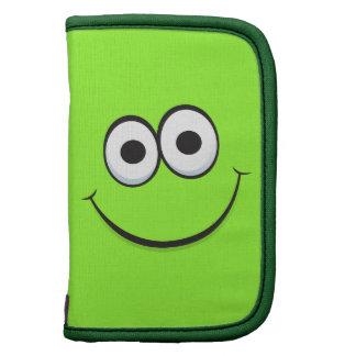 Caja en folio divertida de la cara sonriente feliz planificadores