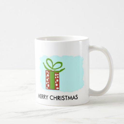 CAJA ENMARCADA, árbol de Navidad, FELIZ CH de las Taza Clásica