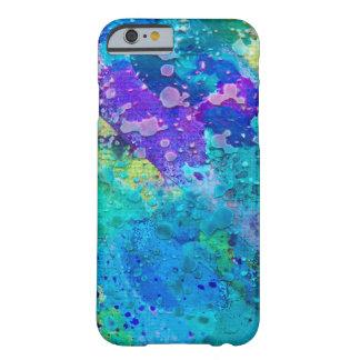 Caja enrrollada abstracta azul y púrpura de la funda de iPhone 6 barely there