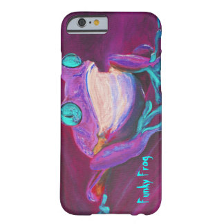 Caja enrrollada colorida del iPhone 6 de la rana