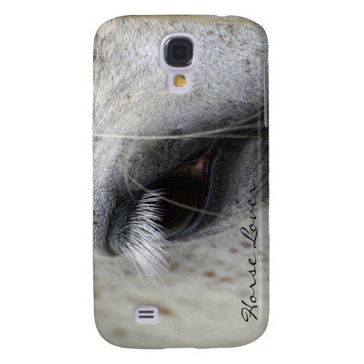 Caja equina de la mota del ojo del caballo del App Funda Samsung S4