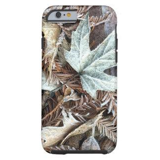 Caja escarchada del teléfono de las hojas funda resistente iPhone 6