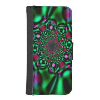 Caja esmeralda de la cartera del iPhone 5 de la Fundas Billetera Para Teléfono