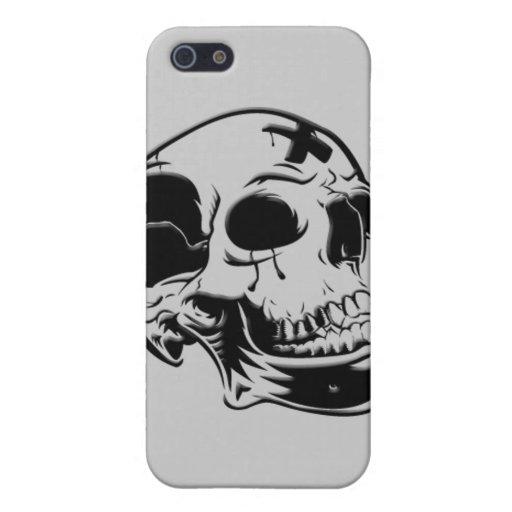 Caja espeluznante de la mota de los cráneos iPhone 5 carcasas